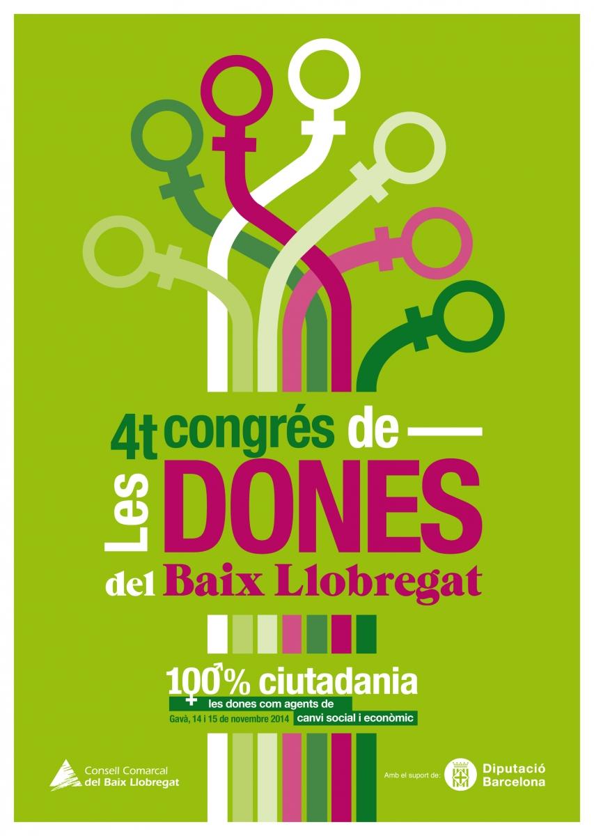 Cartell del 4t Congrés de les Dones del Baix Llobregat